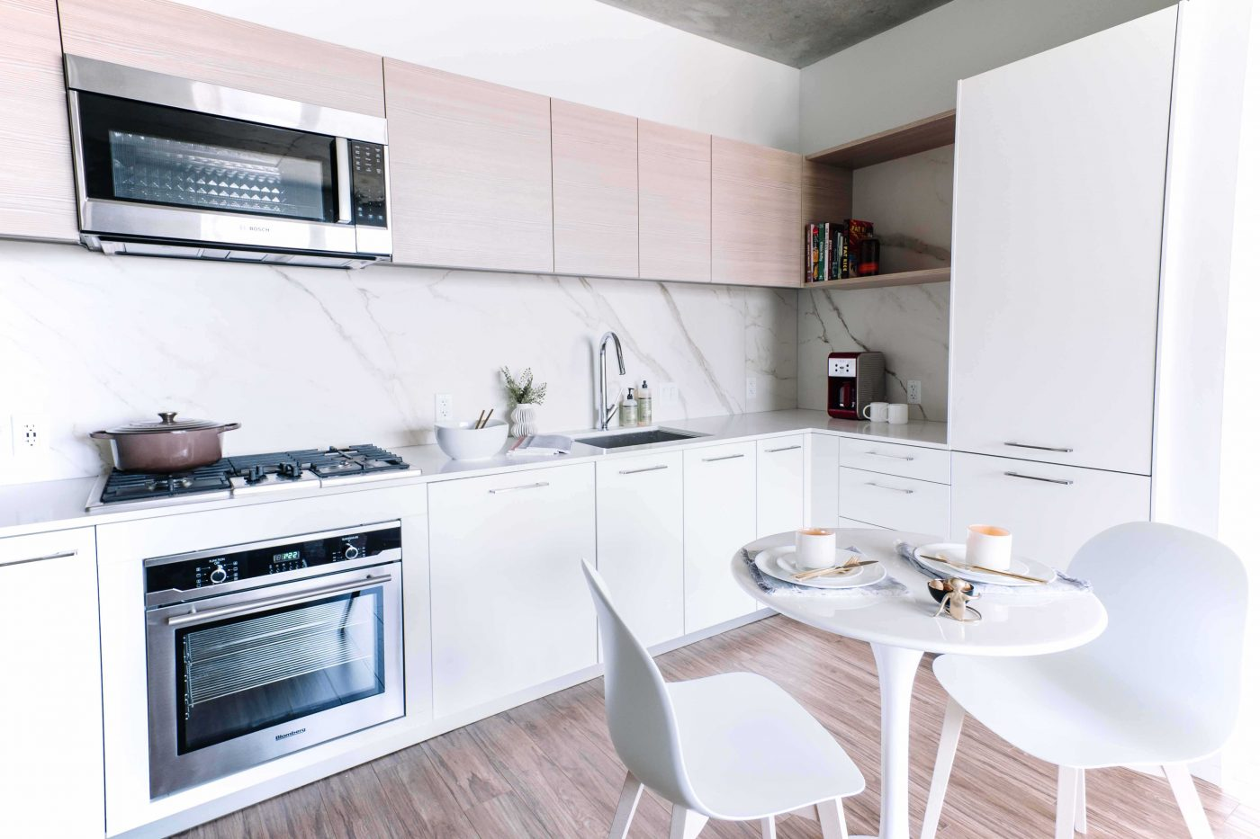 kitchen with stainless appliances and ample storage